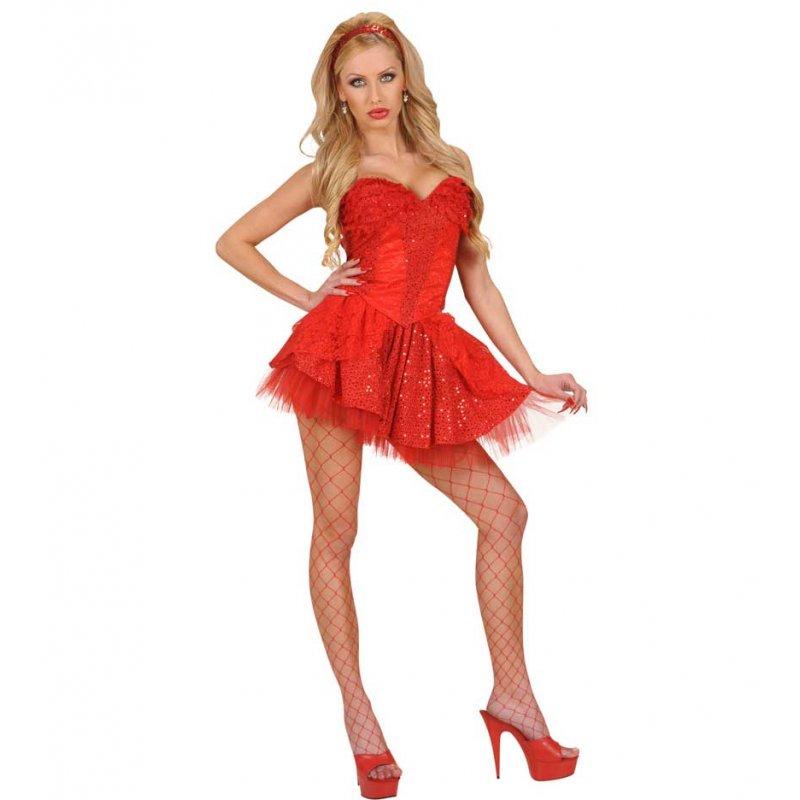 97407d5dbea Αποκριάτικο Κόκκινο Φόρεμα Κορσές με Δαντέλα και Πούλιες