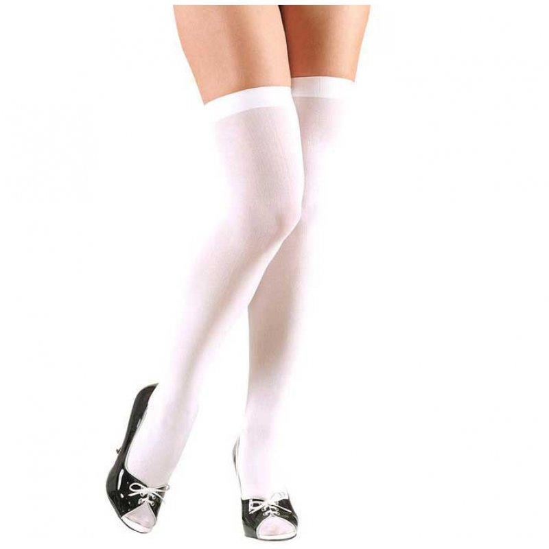 Αποκριάτικες Λευκές Ψηλές Κάλτσες 70ac828fe85