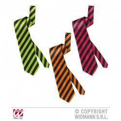 Αποκριάτικη Γραβάτα Neon Ριγέ Σατέν - 3 Χρώματα