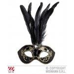 Αποκριάτικο Αξεσουάρ Μάσκα Ματιών με Χρυσό Glitter - 2 Χρώματα