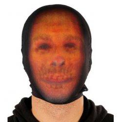 Αποκριάτικη Μάσκα Προσώπου Πορτοκαλί - Μαύρο