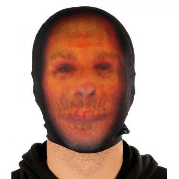 Αποκριάτικη Μάσκα Προσώπου Φάντασμα Πορτοκαλί