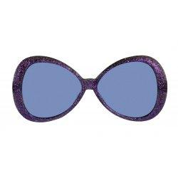 Αποκριάτικο Αξεσουάρ Γυαλιά Glitter Fashion Μωβ