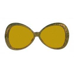Αποκριάτικο Αξεσουάρ Γυαλιά Glitter Fashion Χρυσό