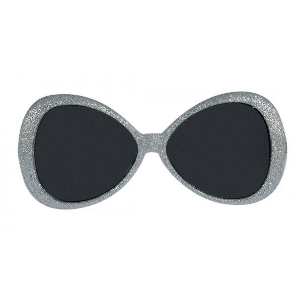 Αποκριάτικα Γυαλιά Glitter Fashion Ασημί