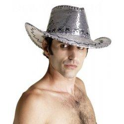 Αποκριάτικο Αξεσουάρ Καπέλο Κάου Μπόι (Ασημί)