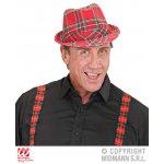Αποκριάτικο Κόκκινο Καρώ Καπέλο Φεντόρα