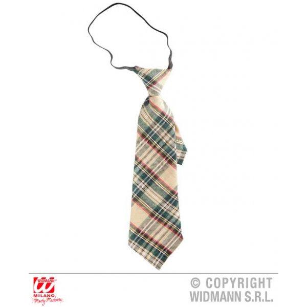 Αποκριάτικη Γραβάτα Μπεζ Καρό Ταρτάν