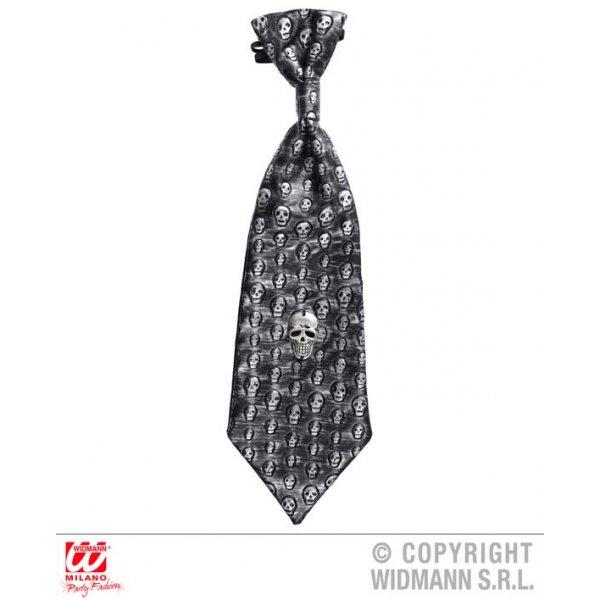 Αποκριάτικη Γραβάτα με Μεταλική Νεκροκεφαλή