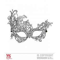 Αποκριάτικο Αξεσουάρ Ασημί Μάσκα Ματιών Baroque