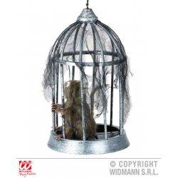 Αποκριάτικο Αξεσουάρ Αρουραίος σε Κλουβί (32cm)