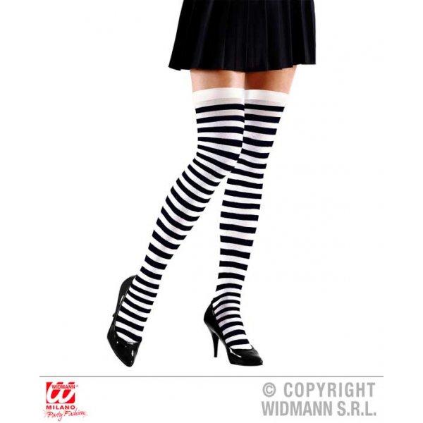 Αποκριάτικες Ριγέ Κάλτσες Μαύρο Λευκό