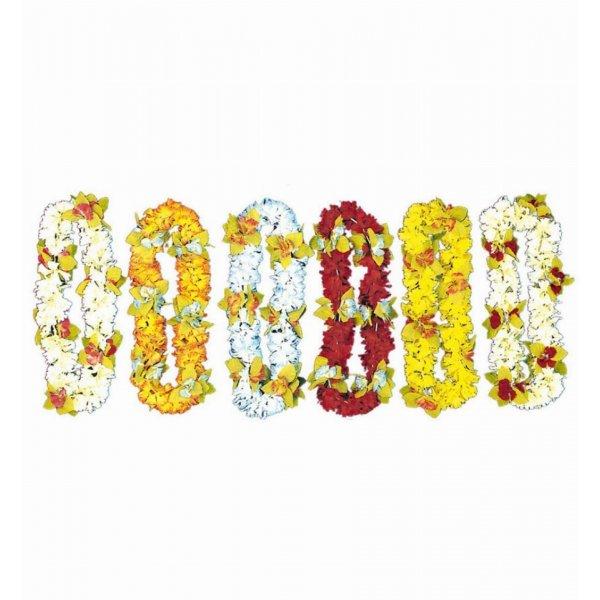 Αποκριάτικο Κολιέ Χαβανέζας με Λουλούδια - 4 Χρώματα