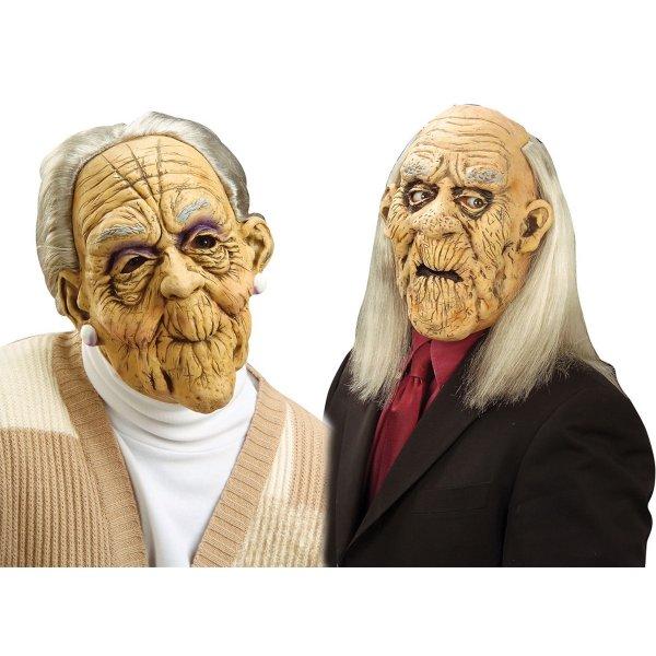 Αποκριάτικη Μάσκα Ηλικιωμένων με Μαλλιά (2 Σχέδια)