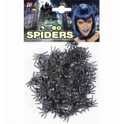 Αποκριάτικο Διακοσμητικό Σετ με 60 Μικρές Αράχνες