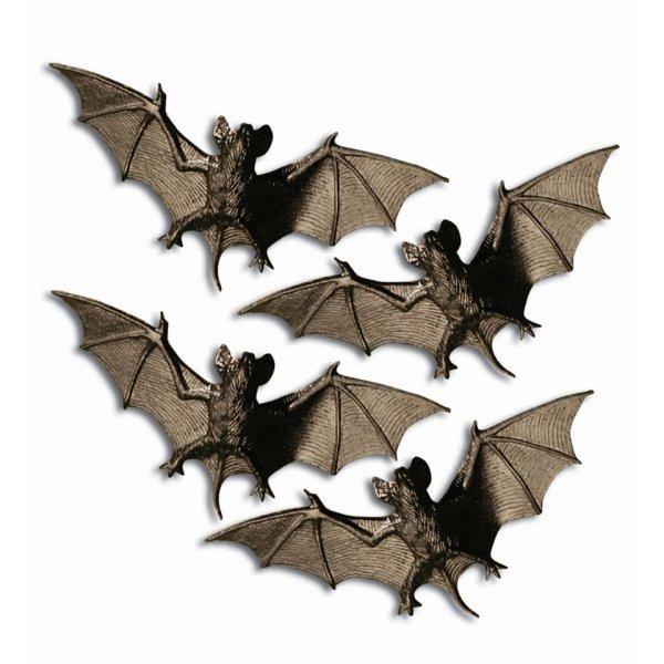 Αποκριάτικο Διακοσμητικό Νυχτερίδες - Σετ 4 Τεμαχίων
