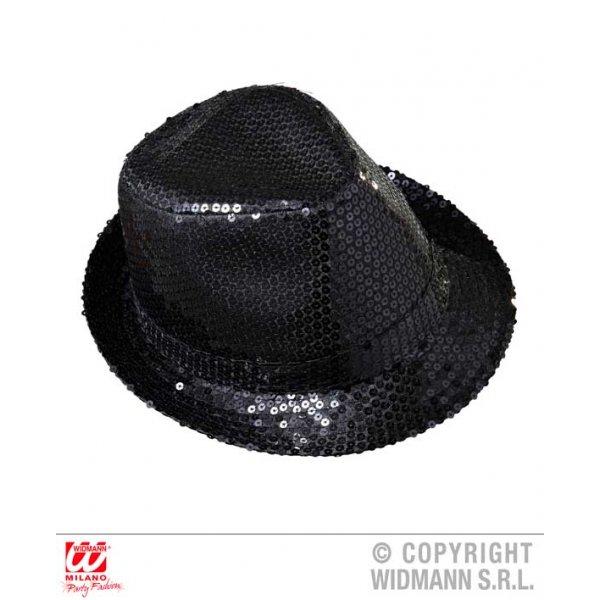 Αποκριάτικο Μαύρο Καπέλο με Πούλιες