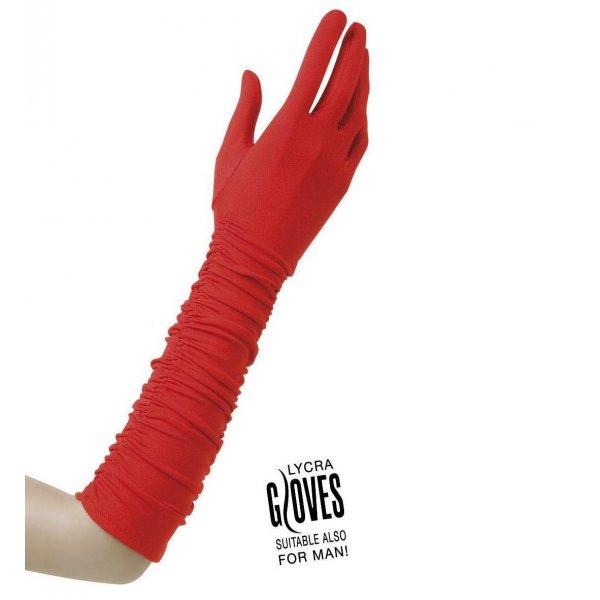 Αποκριάτικο Κόκκινο Ελαστικό Γάντι (37cm)