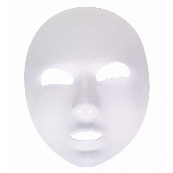 Αποκριάτικη Μάσκα Λευκή, Υφασμάτινη