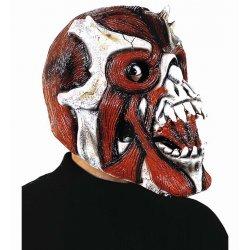 Αποκριάτικη Μάσκα Latex Νεκροκεφαλή Κόκκινη