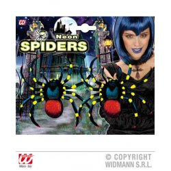 Αποκριάτικη Αράχνη ΝΕΟΝ - Σετ 2 Τεμαχίων