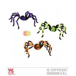 Αποκριάτικη Φωσφοριζέ Αράχνη King Size - 3 Χρώματα (75 cm)