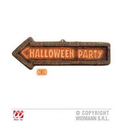 Αποκριάτικο Πινακίδα ΝΕΟΝ 3D «Halloween Party Sign» 56x17 εκ