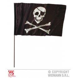 Αποκριάτικη Πειρατική Σημαία (120εκ - 70εκ) με Κοντάρι (140εκ)