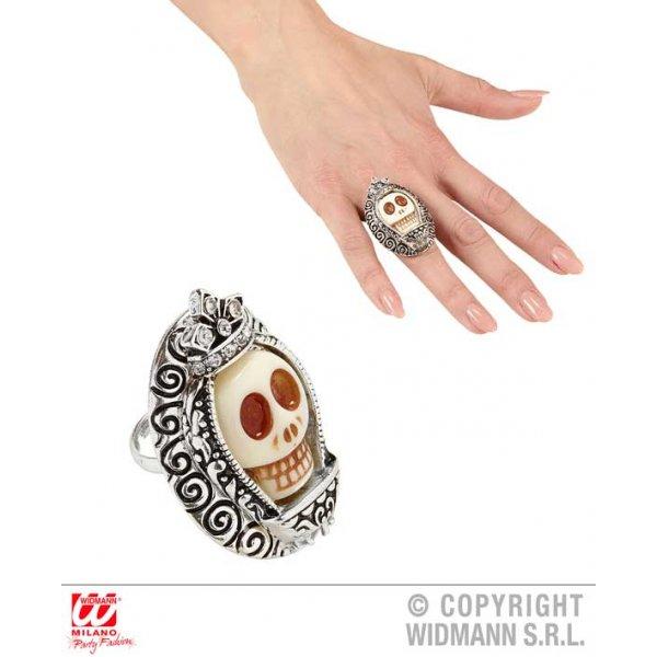 Αποκριάτικο Δαχτυλίδι με Νεκροκεφαλή