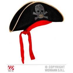 Αποκριάτικο Πειρατικό Καπέλο με Μπαντάνα από Βελούδο