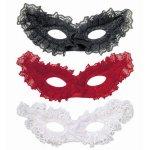 Αποκριάτικη Μάσκα Ματιών με Δαντέλα - 3 Χρώματα