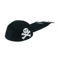 Αποκριάτικο Αξεσουάρ Καπέλο Πειρατή, Μαντήλι Μαύρο