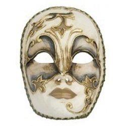 Αποκριάτικη Μάσκα Ben Paper Mache Ασημί