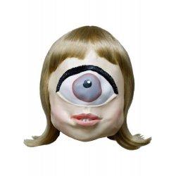 Αποκριάτικη Μονόφθαλμη Μάσκα με Ξανθά Μαλλιά, Latex