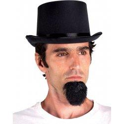 Αποκριάτικο Αξεσουάρ Καπέλο Ημίψηλο Σατέν Μαύρο