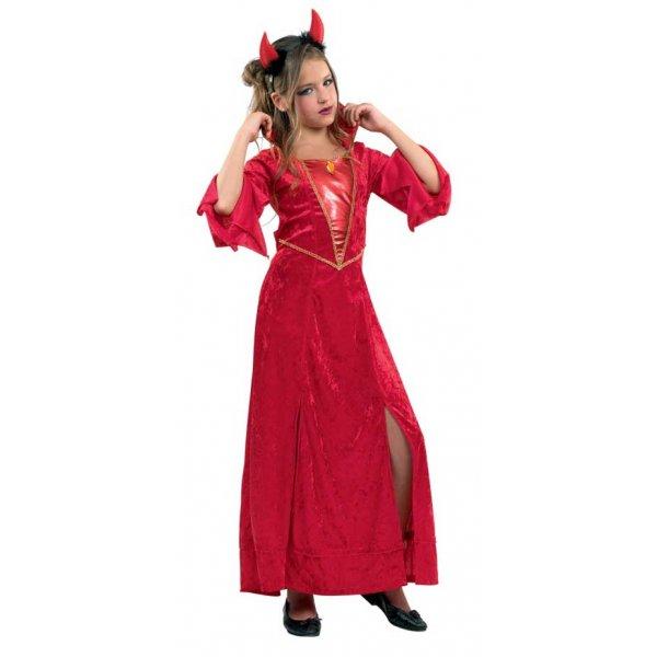 Αποκριάτικη Στολή Διαβολίνα Φόρεμα