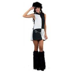 Αποκριάτικη Στολή Disco Girl Λευκό-Μαύρο