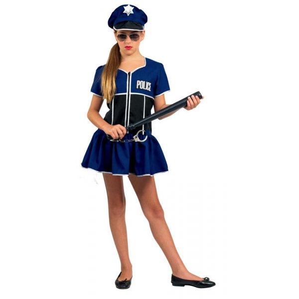 Αποκριάτικη Στολή Αστυνομικίνα Μπλε Κορίτσι