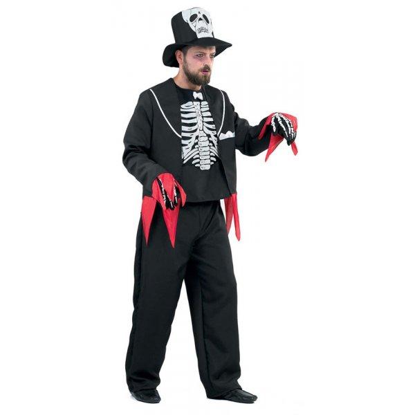 Αποκριάτικη Στολή Γαμπρός Σκελετός Σακάκι