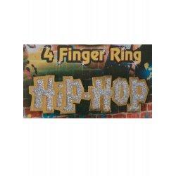 Αποκριάτικο Αξεσουάρ Δαχτυλίδι Χιπ Χοπ Για 4 Δάχτυλα