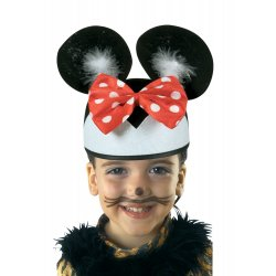 Αποκριάτικο Αξεσουάρ Καπέλο Ποντικούλα