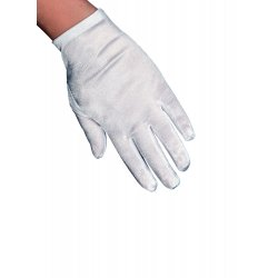 Αποκριάτικο Αξεσουάρ Ασπρα Παιδικά Γάντια Σατέν