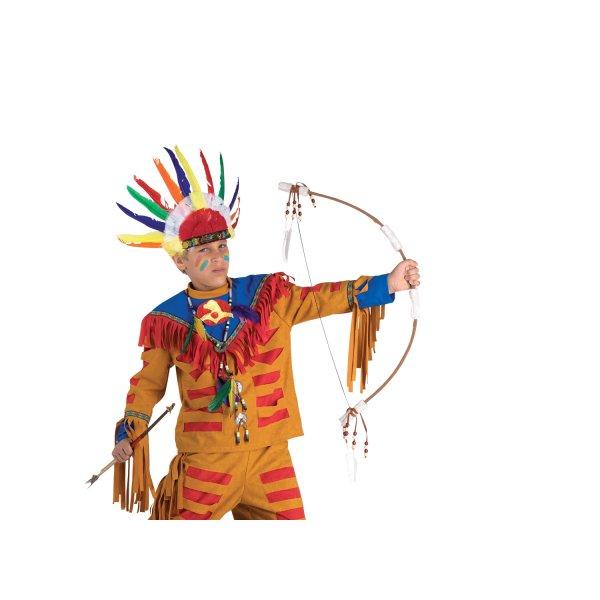 Αποκριάτικο Αξεσουάρ Τόξο Ινδιάνου Με Φτερά Και Βέλη