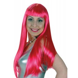 Αποκριάτικο Αξεσουάρ Φούξια Περούκα Lola