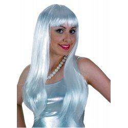 Αποκριάτικο Αξεσουάρ Περούκα Lola Άσπρη