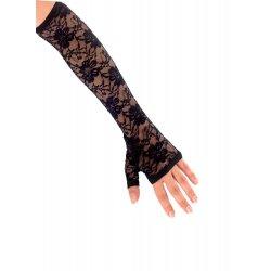 Αποκριάτικο Αξεσουάρ Γάντια Μαύρα Με Δαντέλα
