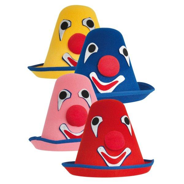 Αποκριάτικο Καπέλο Κλόουν - 4 Χρώματα