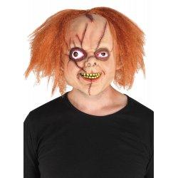 Αποκριάτικη Μάσκα Latex Με Μαλλιά