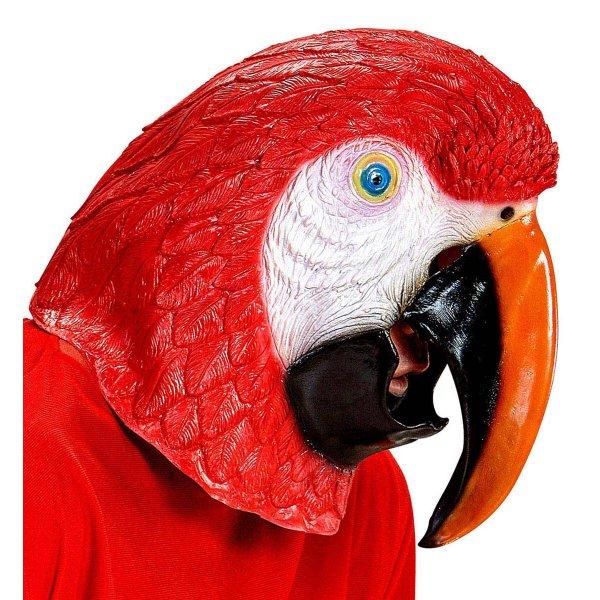 Αποκριάτικη Μάσκα Παπαγάλος Κόκκινο