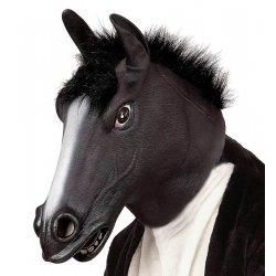 Αποκριάτικη Μάσκα Latex Άλογο Μαύρο